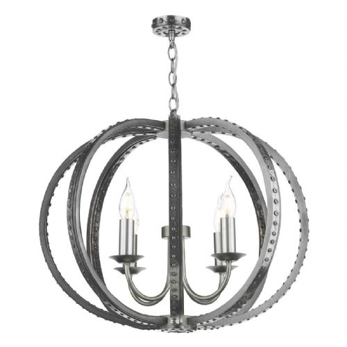 Twain 4 Light Pendant Pewter TWA0467 Fitting only (7-10 day Delivery)